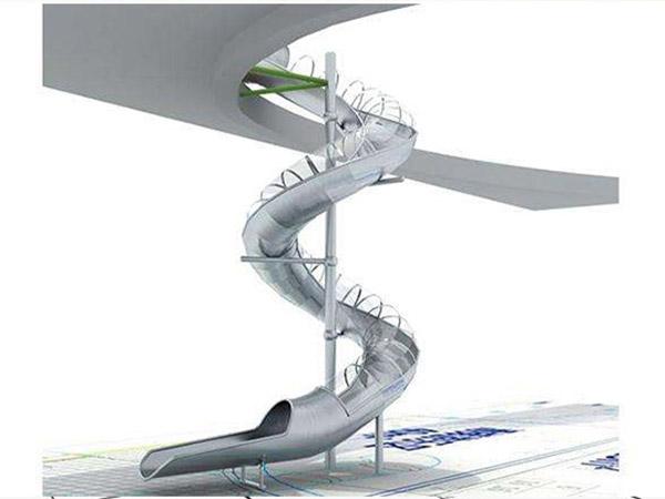 不锈钢滑梯11